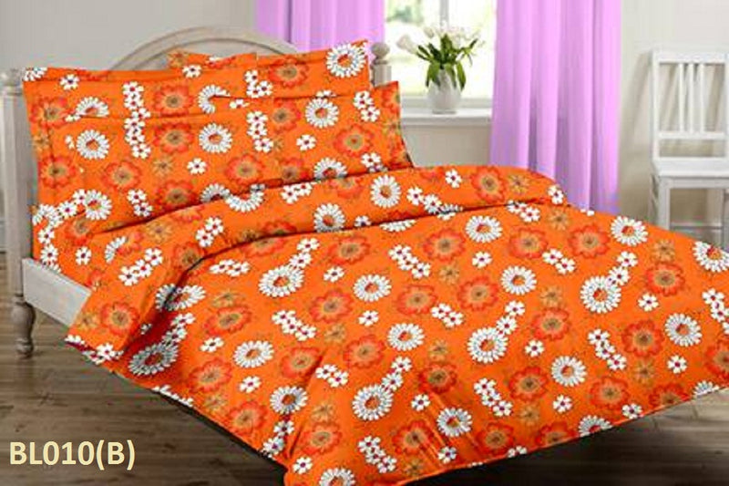 Blossom Marigold Floral Pattern Double Bedsheet