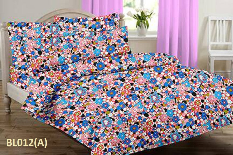 Blossom Pebble  Floral Pattern Double Bedsheet