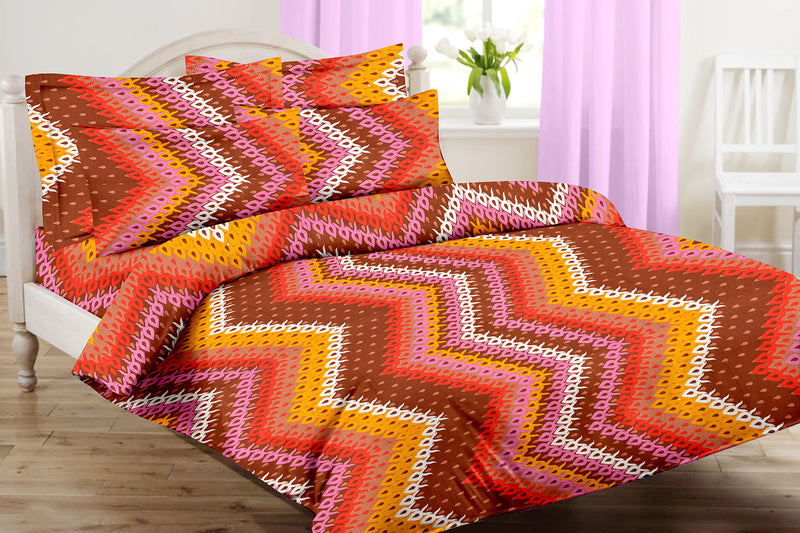 Blossom-King-size-Striped-Pattern-printed-Double-Bedsheet-3