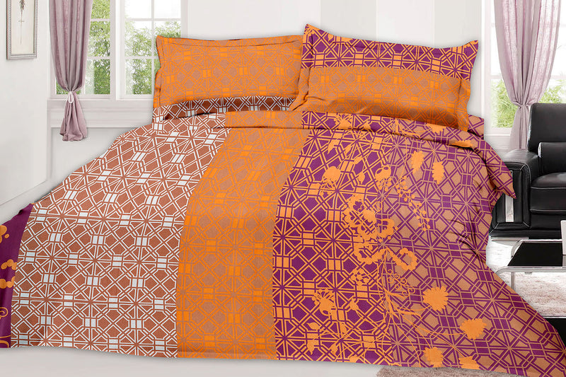 Blossom-King-size-Geometric-Pattern-printed-Double-Bedsheet-2