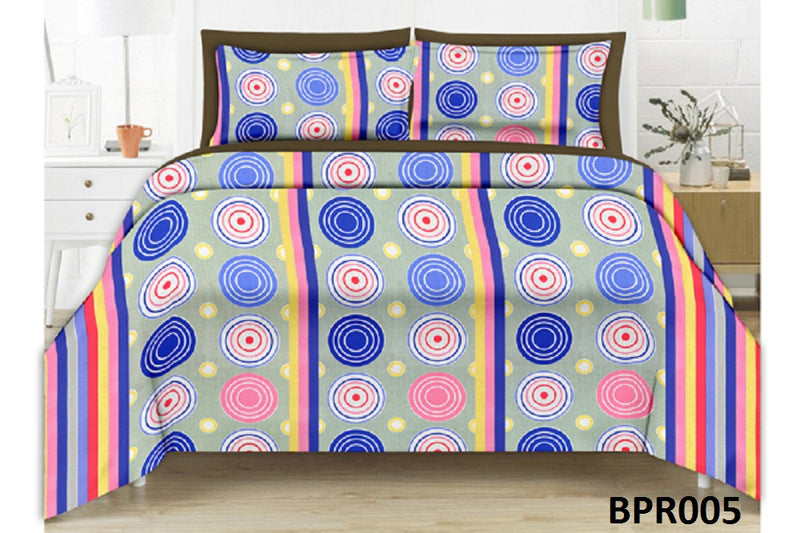 Parista Geometrical Stripe Double Bedsheet