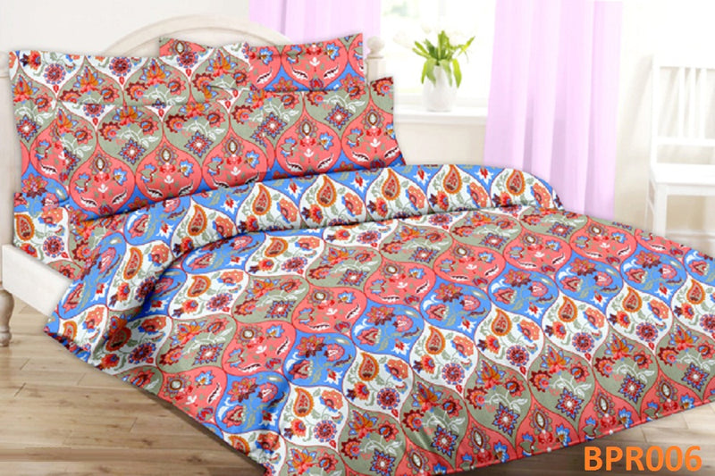 Parista Multi coloured Jaipuri Pattern Double Bedsheet