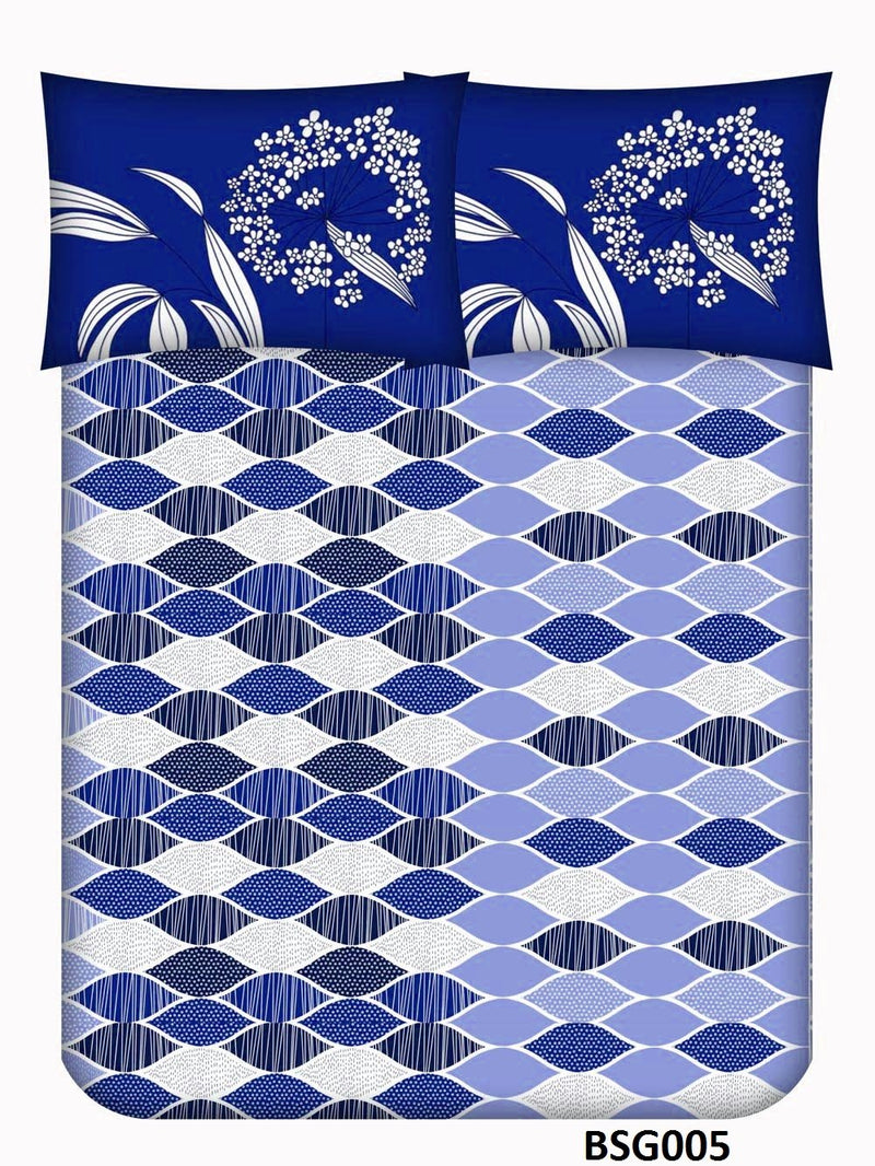 Supergold King-size Geometric Pattern Double Bedsheet