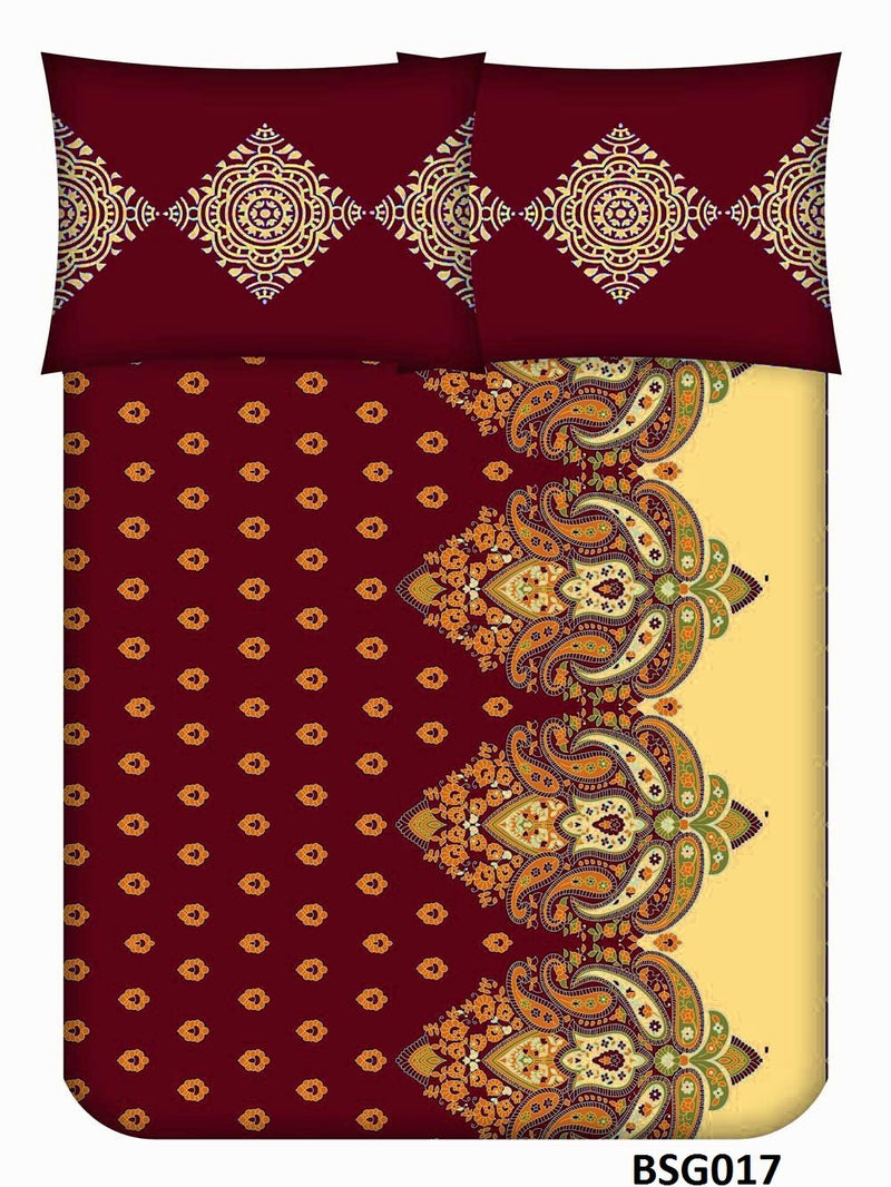Supergold King-size Abstract Pattern Double Bedsheet