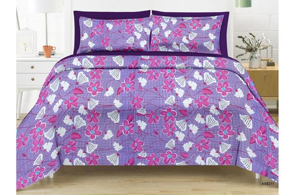 Daffodil King-size Floral Double Bedsheet