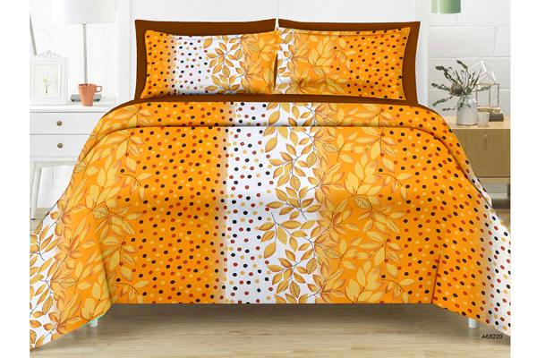 Daffodil King-size Leaf Double Bedsheet
