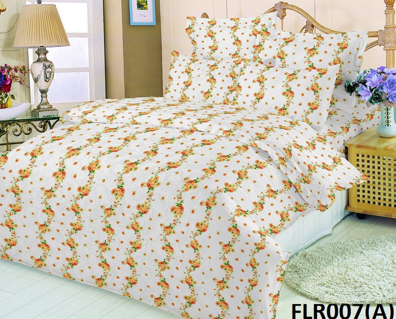 Florence King-size Scribble Pattern Printed Double Bedsheet