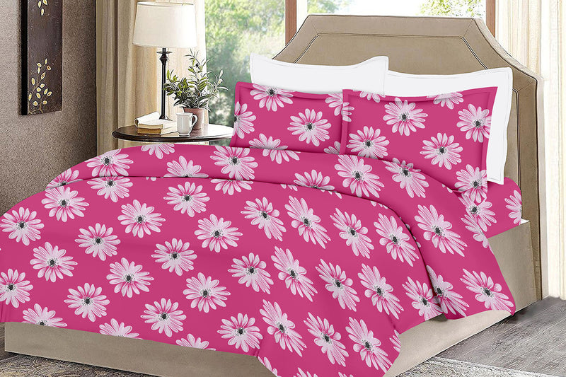 Sunflower-King-size-Floral-Pattern-Printed-Double-Bedsheet