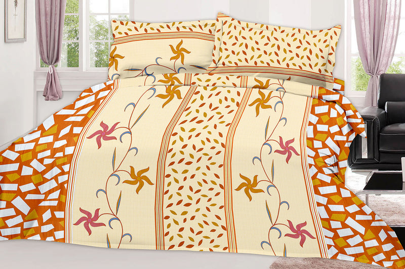 Sunflower-King-size-Striped-Pattern-Printed-Double-Bedsheet-1