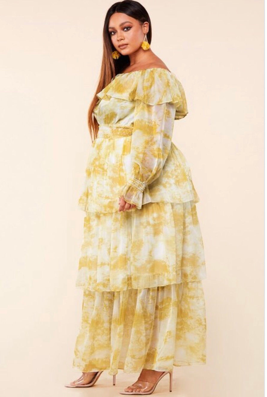Yellow Marble Dress
