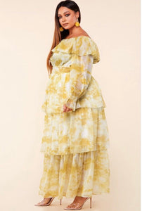 Yellow Marble Dress - Couture Mi Amor