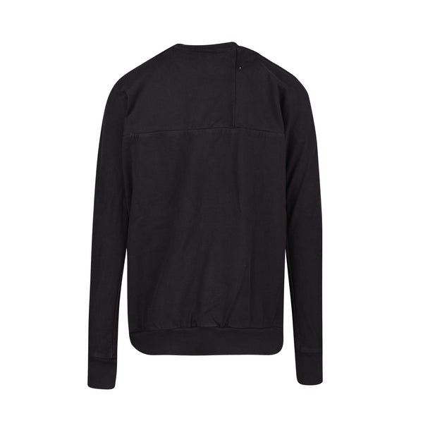 11 by Boris Bidjan Saberi CR1B Crewneck - Black SUPPLIES AND CO