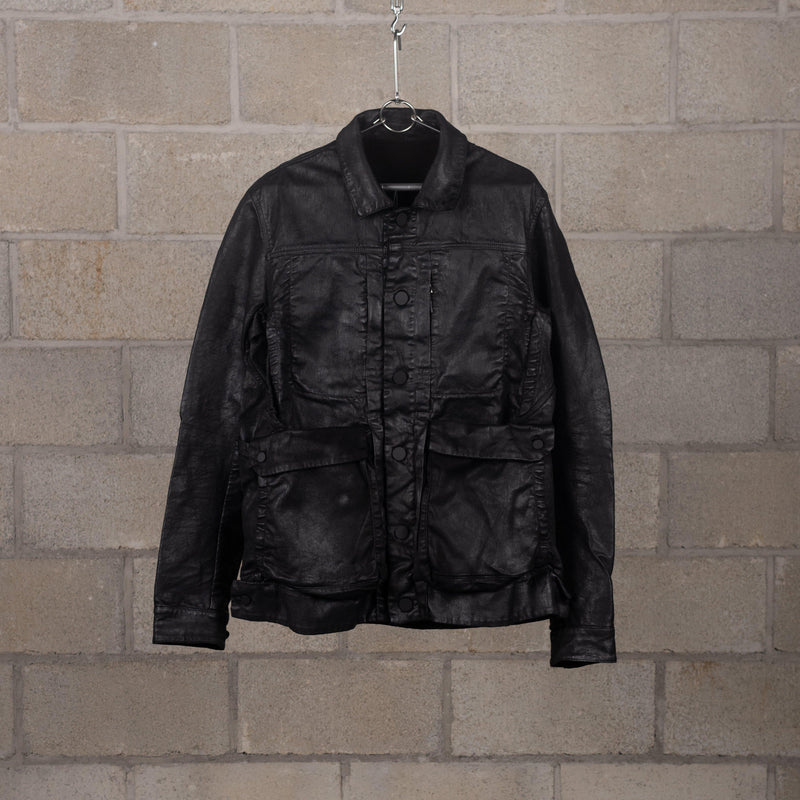 11 by Boris Bidjan Saberi J19 Black Dye Blasted Jacket SUPPLIES AND CO