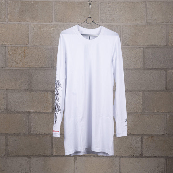 11 by Boris Bidjan Saberi LS3 White Washed Long Sleeve T-Shirt SUPPLIES AND CO