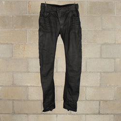 P1C F-1456 Pants - Black Dye Waxed-11 by Boris Bidjan Saberi-SUPPLIES & COMPANY