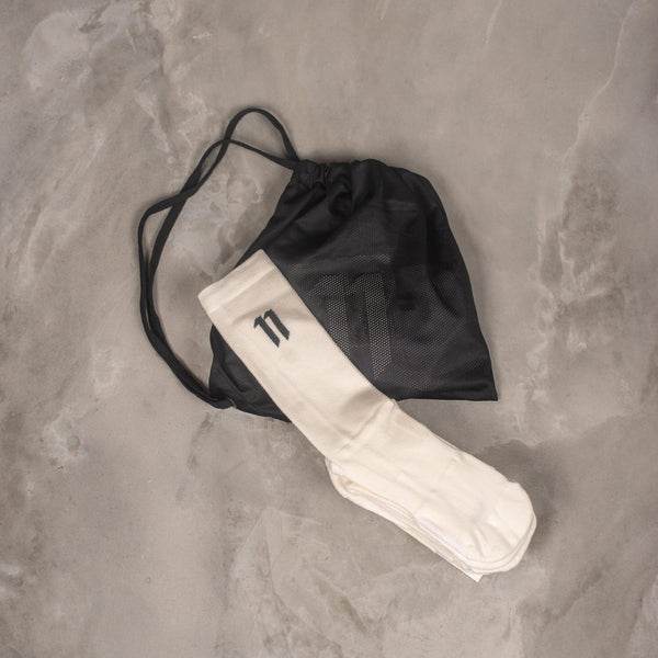 11 by Boris Bidjan Saberi SOCK1B (x3) White Socks SUPPLIES AND CO