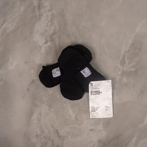 11 by Boris Bidjan Saberi SOCK5 (x3) Black Socks SUPPLIES AND CO