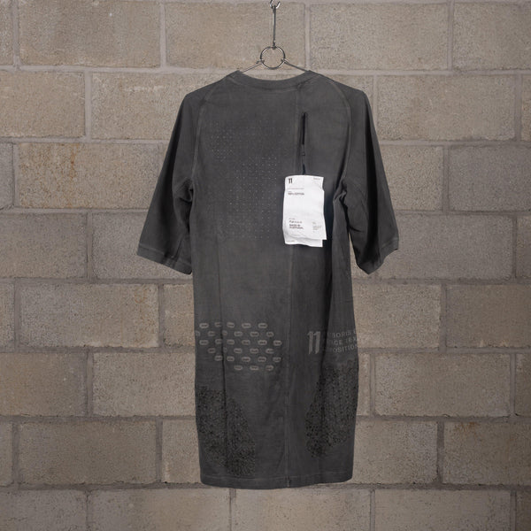 11 by Boris Bidjan Saberi TS4B Bamba Black Cold Dye Short Sleeve T-Shirt SUPPLIES AND CO