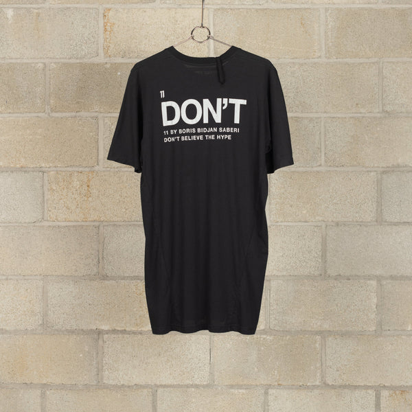 TS5 F-1101 DON'T T-Shirt - Black Dye-11 by Boris Bidjan Saberi-SUPPLIES & COMPANY