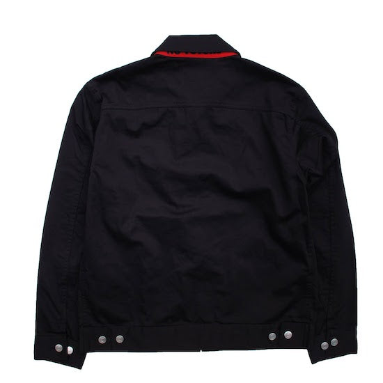 Satin Work Jacket - Black