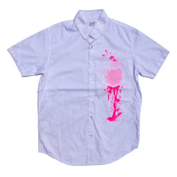 Stain Shirt - White / Pink