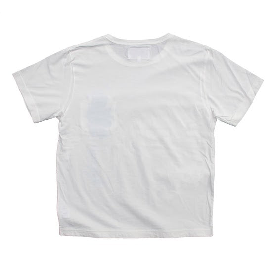 Stain Pocket T-Shirt / White / Pink