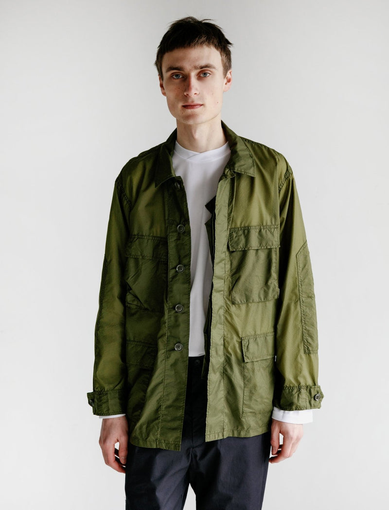 MC Shirt Jacket - Olive Nylon Micro Ripstop