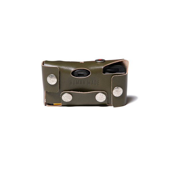 Leather Camera Case #K - Olive Drab