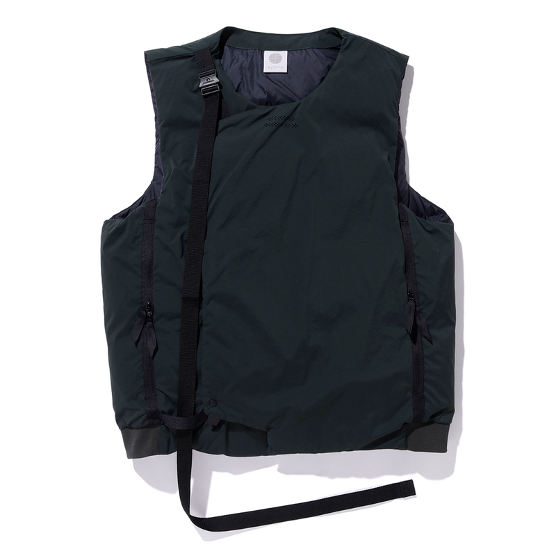alk phenix Crank Vest 2 (Karu Stretch x DRYSPHERE DOWN) - Dark Green SUPPLIES AND CO