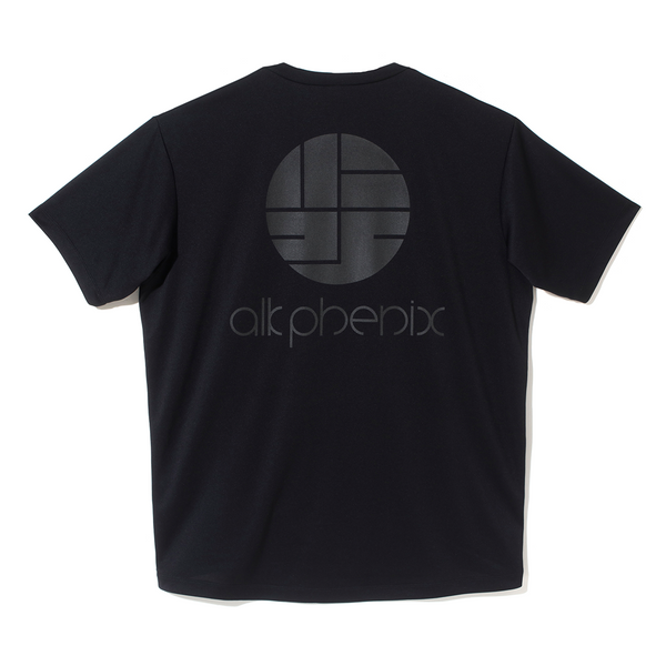 alk phenix Orbit T-Shirt Short Sleeve Print (Dry Soft) - Black SUPPLIES AND CO