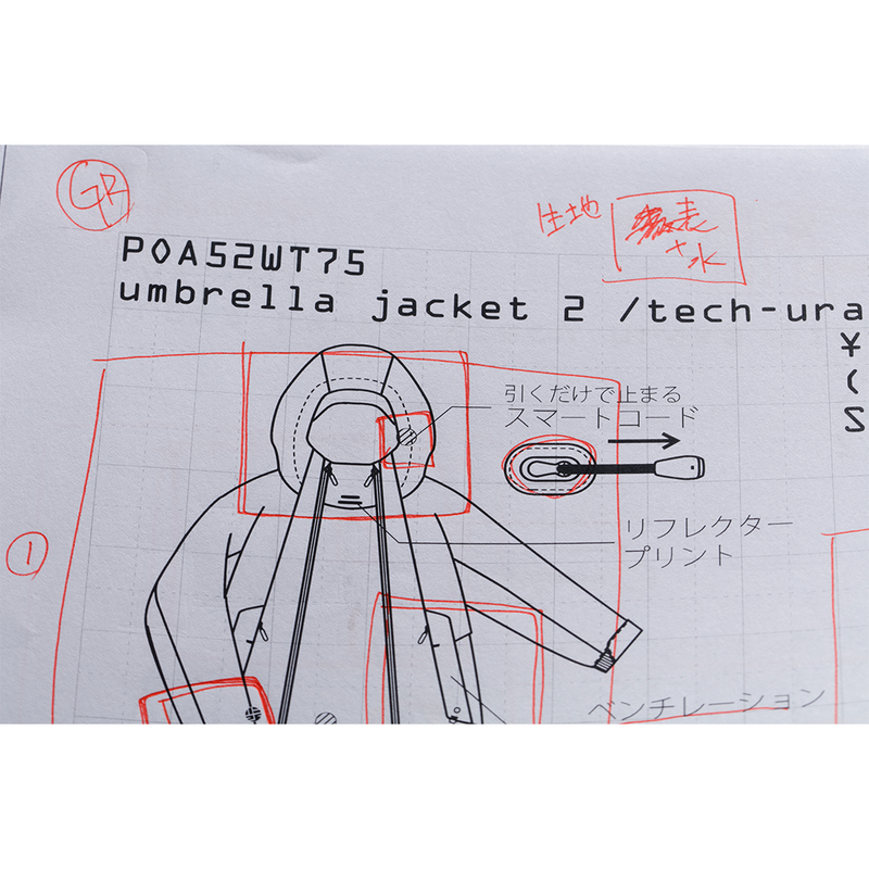 alk phenix Umbrella Jacket 2 (Tech-urake Light) - Steel Blue SUPPLIES AND CO