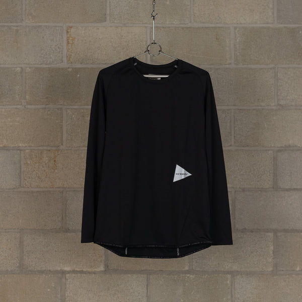 Dry Jersey Raglan Long Sleeve T-Shirt - Black-and wander-SUPPLIES & COMPANY