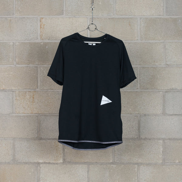 Dry Jersey Raglan Short Sleeve T-Shirt - Black-and wander-SUPPLIES & COMPANY