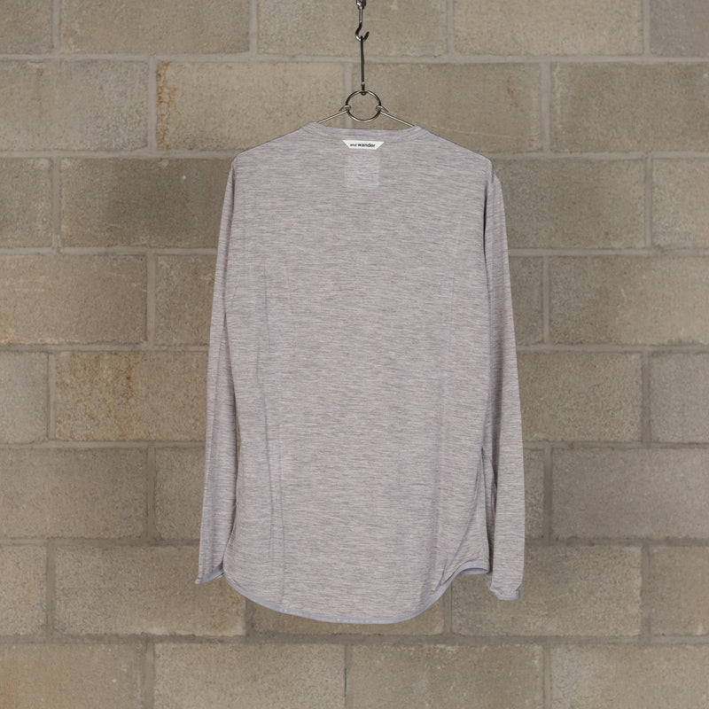 Merino Base T-Shirt - Grey-and wander-SUPPLIES & COMPANY