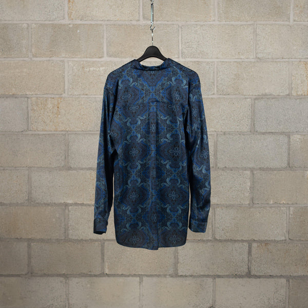 Bed J.W. Ford Open Collar Shirt Version 2 - Navy SUPPLIES AND CO