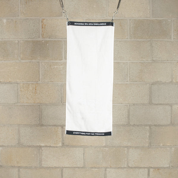 Face Towel - White / Black-COW BOOKS-SUPPLIES & COMPANY