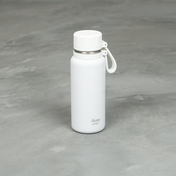 Stainless Bottle - White-COW BOOKS-SUPPLIES & COMPANY