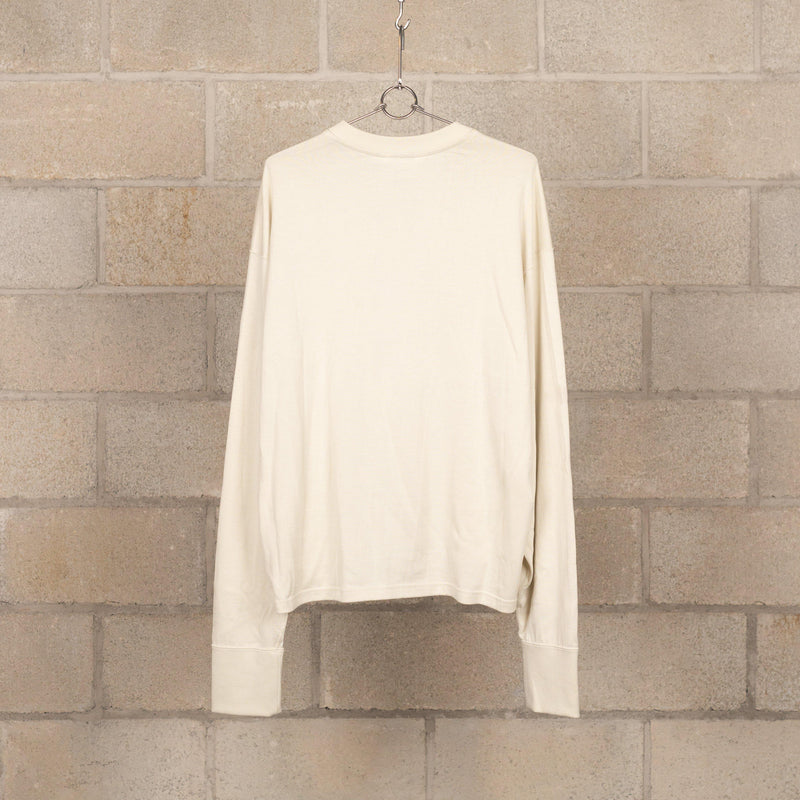 Short-Length Long Sleeve T-Shirt - Beige-Digawel-SUPPLIES & COMPANY