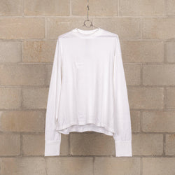Short-Length Long Sleeve T-Shirt - White-Digawel-SUPPLIES & COMPANY