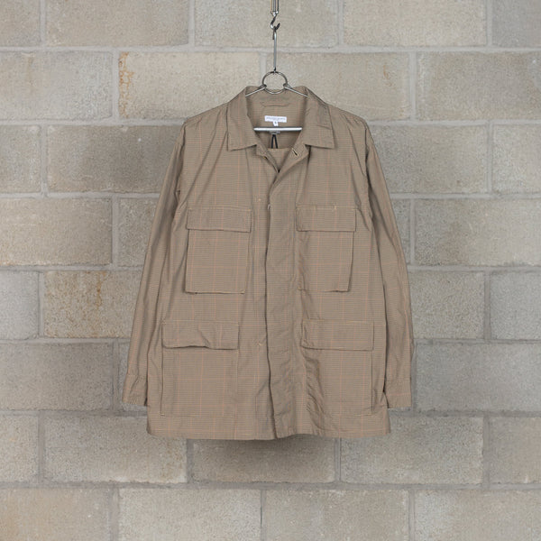 BDU Jacket - Khaki Nyco Mini Tattersall-Engineered Garments-SUPPLIES & COMPANY