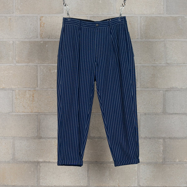 Carlyle Pants - Indigo Cotton Wabash Stripe-Engineered Garments-SUPPLIES & COMPANY