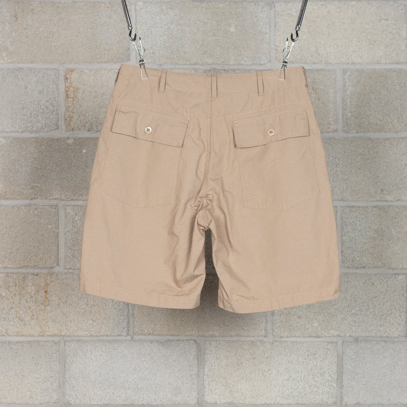Fatigue Shorts - Khaki Cotton Ripstop-Engineered Garments-SUPPLIES & COMPANY