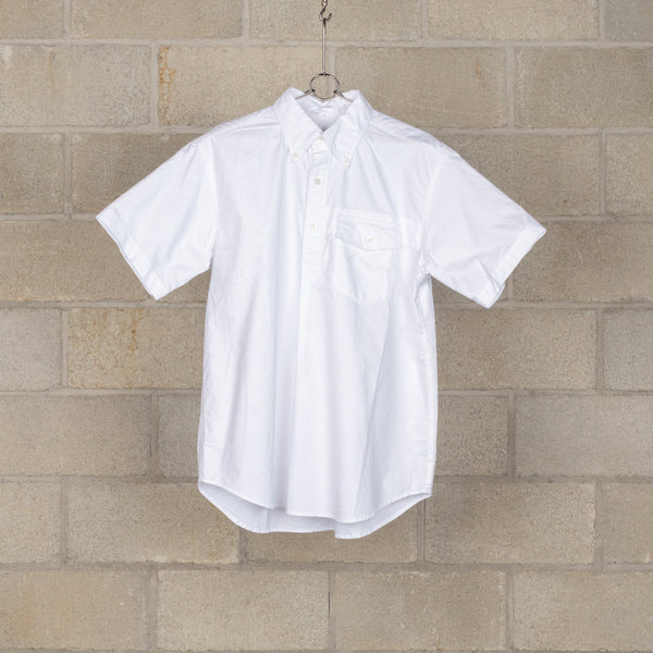 Popover BD Shirt - White Cotton Oxford-Engineered Garments-SUPPLIES & COMPANY