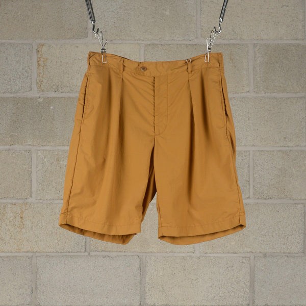 Engineered Garments Sunset Shorts - Mustard Acrylic Coated Nylon Taffeta SUPPLIES AND CO