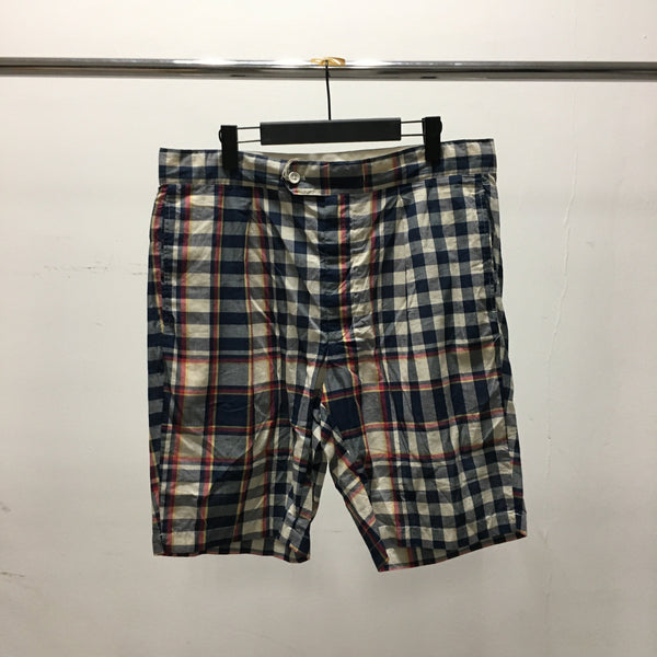 Sunset Shorts - Navy/Red/Yellow Big Plaid Madras-Engineered Garments-SUPPLIES & COMPANY
