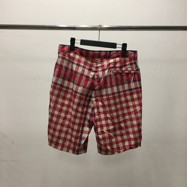 Sunset Shorts - Red/Navy/Lt.Blue Big Plaid Madras-Engineered Garments-SUPPLIES & COMPANY
