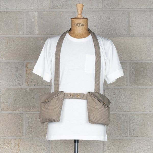 Waist Bag - Khaki Nyco Mini Tattersall-Engineered Garments-SUPPLIES & COMPANY
