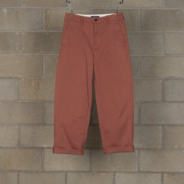 Cotton Chino Pants - Brick-Every Condition Life-SUPPLIES & COMPANY