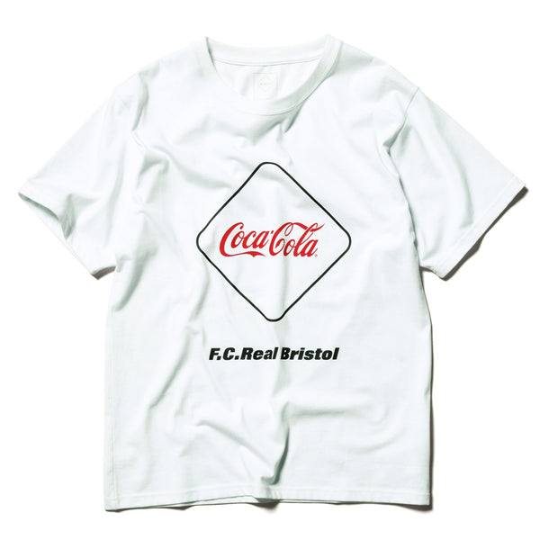 Coca-Cola Emblem T-Shirt - White-F.C.Real Bristol-SUPPLIES & COMPANY
