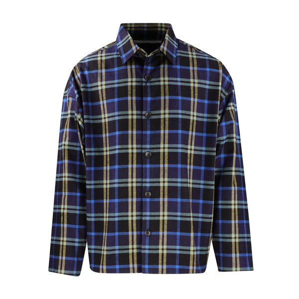 Gustav Von Aschenbach Box Plaid Flannel Shirt SUPPLIES AND CO
